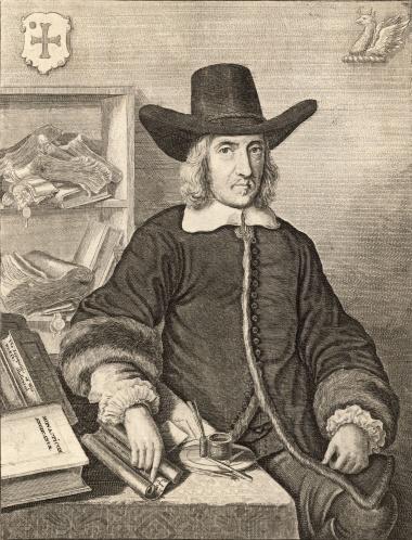 Engraving of William Dugdale in 1656 by Wenceslas Hollar