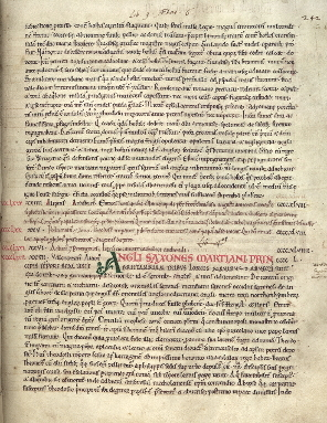Opening of John of Worcester's Chronicon ex Chronicis, from I think Cambridge Corpus Christi College MS 157