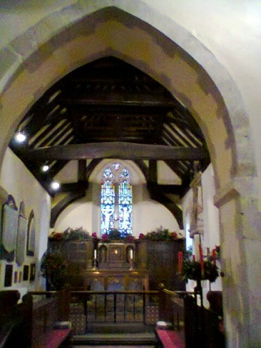 Interior of Holy Cross, Sarratt
