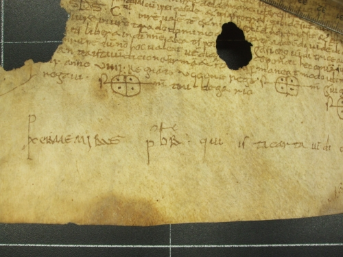 Scribal signture of Arxiu Capitular de Vic, calaix 6, no. 242, by Jonathan Jarrett