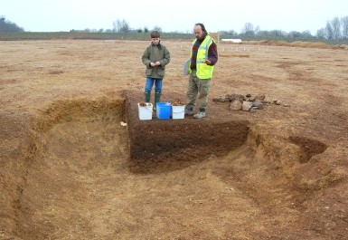 Excavation of an Anglo-Saxon sunken-featured building at Horcott, Gloucestershire