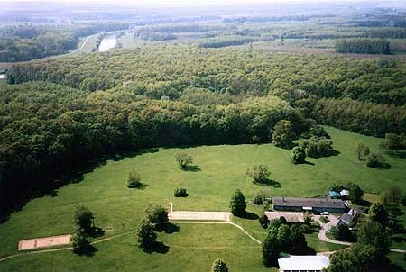 Aerial view of the heritage site now at Mikulčice