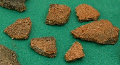 Saxon pottery from settlement excavation at Horcott, Gloucestershire