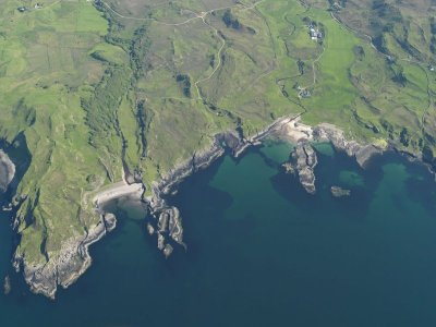 Aariel view of the coats around Swordie Bay, Ardnamurchan