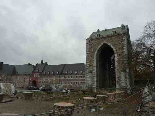The current state of the old abbey of Stavelot-Malmédy