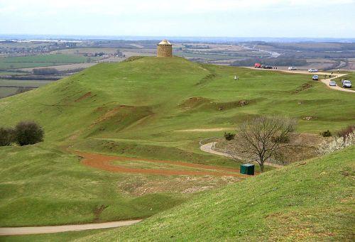 View of hills at Burton Dassett, Warwickshire
