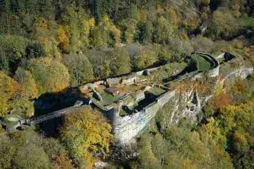 The château-fort de Logne as it now stands