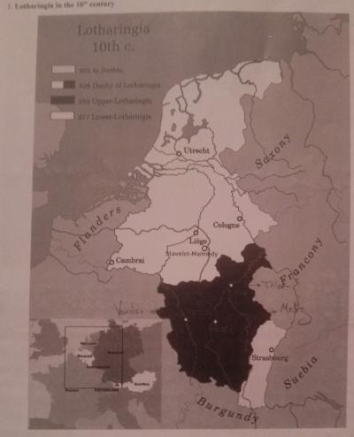 Map of tenth-century Lotharingia