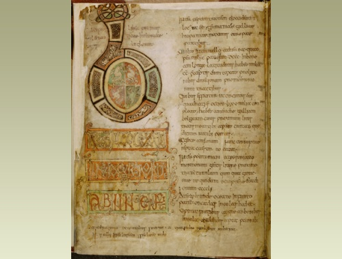 Opening page of a <i>c. </i>800 manuscript of Bede's Ecclesiastical History