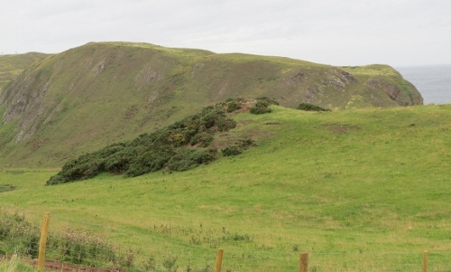 Kirkhill, St Abb's Head, Scotland, site of the <i>Urbs coludi</i> where StÆbbe's relics were supposedly found in 1118