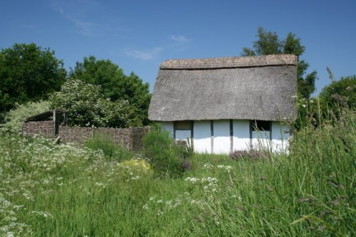A reconstructed Anglo-Saxon house at East Firsby, Lincolnshire
