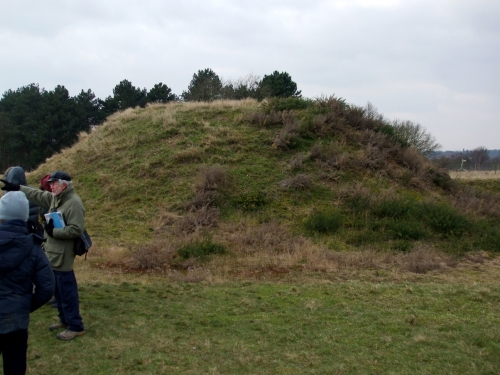 Reconstructed burial mound at Sutton Hoo