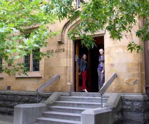 Mine hosts, at the Old Arts Building, Melbourne University