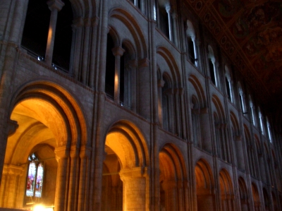 Arcades in the nave of Ely Cathedral