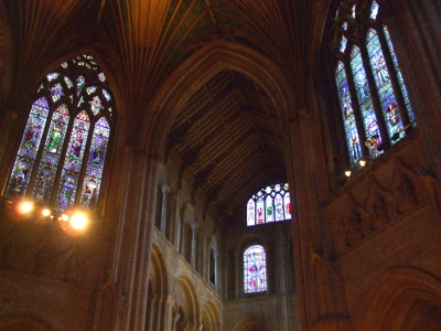 Vault of the south transept and some of the crossing of Ely Cathedral