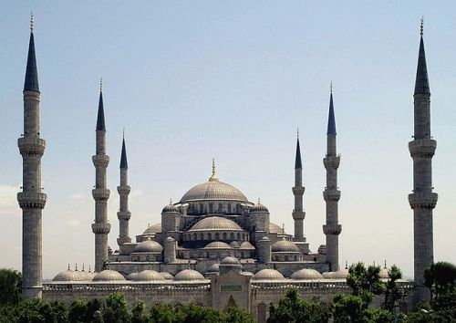 The Blue Mosque of Sultan Ahmed in Istanbul