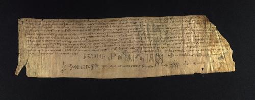 Archivo de la Corona d'Aragón, Monacals d'Hisenda, Pergamins de Santa Cecília de Montserrat, no. 6 recto