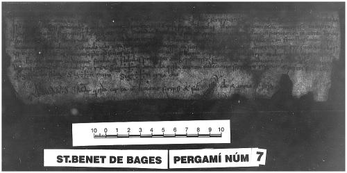 Archivo de la Corona d'Aragón, Monacals, Pergamins Sant Benet de Bages no. 7 recto