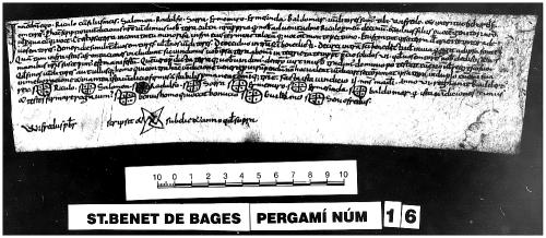 Archivo de la Corona d'Aragón, Monacals, Pergamins Sant Benet de Bages, no. 16 recto