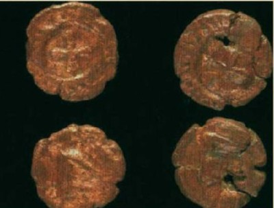 Byzantine copper folles from Cartagena