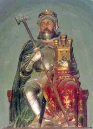Statue of Count Fernán González of Castile, in the Sala de los Reyes, Alcázar de Segovia