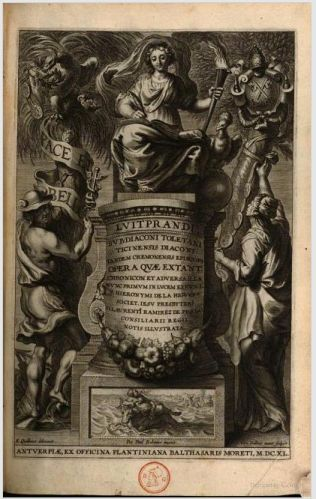 Frontispiece of Higuera & Ramírez's edition of all the claimed works of Liudprand of Cremona