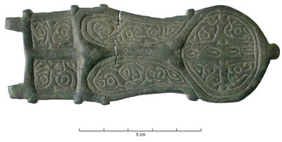Visigothic liriform belt buckle