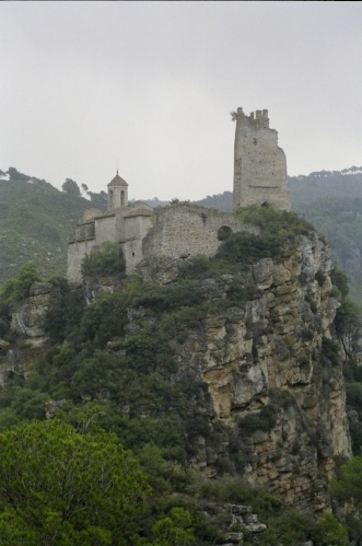 The castle complex of Santa Perpetua de Gaià