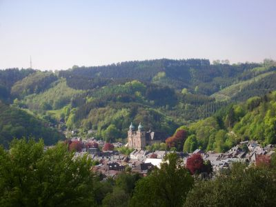 The valley of Malmédy in the Eifel region