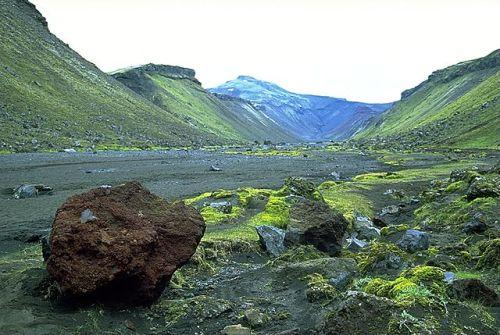 The Icelandic volcano system of Eldgjá
