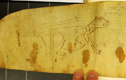 Verso of Arxiu Capitular de Vic, calaix 6, núm. 1302