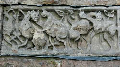 Ninth-century ornamental panel from Breedon-on-the-Hill, Leicestershire