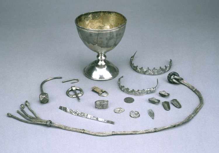 Items from the Trewhiddle Hoard, Britism Museum 1880,0410