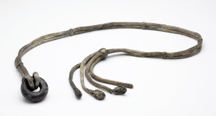 Silver scourge from the ninth-century Trewhiddle Hoard, Britism Museum 1880,0410.4