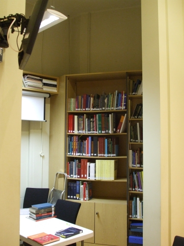 Library shelving in the Coin Study Room of the Barber Institute of Fine Arts, Birmingham