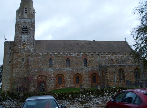 South wall and tower of All Saints Brixworth
