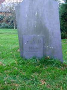 Headstone in the graveyard of All Saints Brixworth