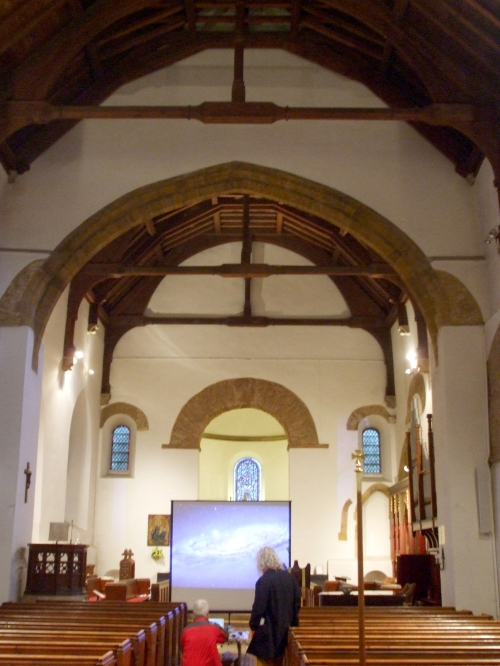 Interior of All Saints Brixworth looking toward the altar, on the occasion of the 2013 Brixworth Lecture