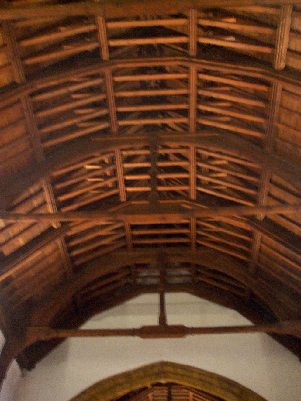 Roof timbers above the nave of All Saints Brixworth