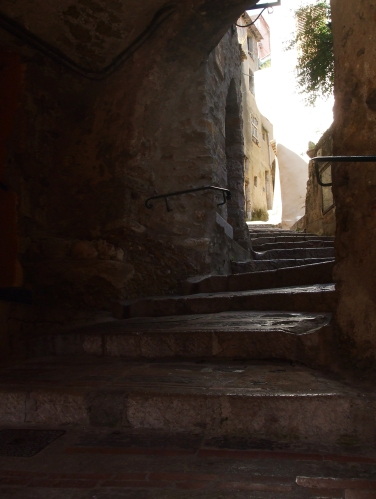 Stairs up into Roquebrune