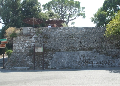 The early modern donjon on the hill above the city of Nice, the lower fabric perhaps being eleventh-century