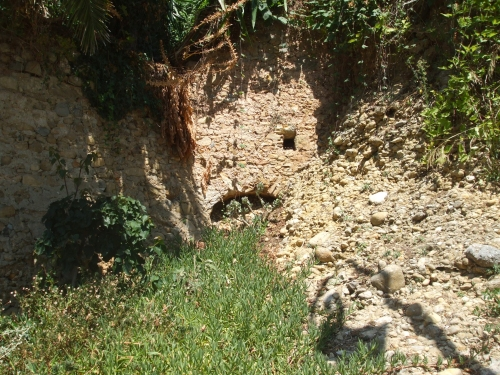 Medieval doorway in the hillside at Roquebrune
