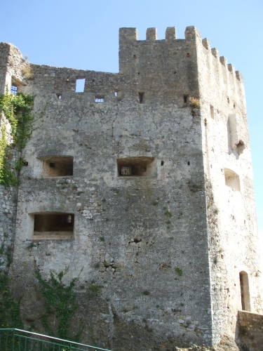 Main tower and glacis of the Château des Grimaldis, Roquebrune