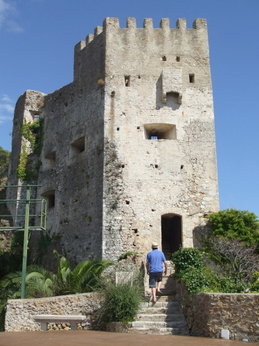 Main tower of the Château des Grimaldis, Roquebrune