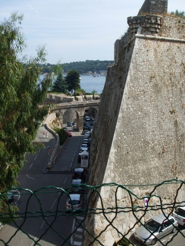 View along one side of the Citadelle de Villefranche-sur-Mer
