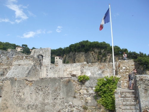 Tower-top view of the Château des Grimaldis, Roquebrune