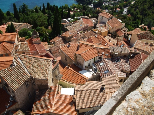 View onto the village from the Château des Grimaldis, Roquebrune