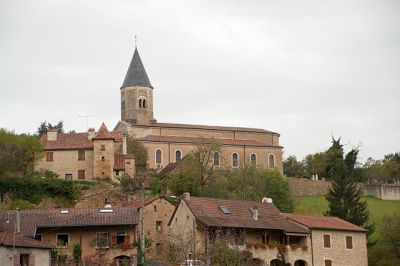 The church and the centre of modern-day Lournand, Burgundy. By Ludovic Péron