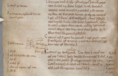Screen capture of the lower part of Corpus Christi College Cambridge MS 339 fo. 9