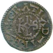 Silver denier of King Charles the Bald (840-77) struck at Blois 864x77, Fitzwilliam Museum CM.QC.5360-R, of the Queens College Collection